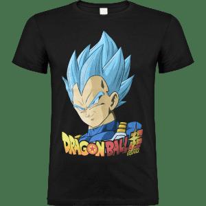 dragon-ball-vegeta- camiseta negra licencia tienda clothes and games- terrassa- barcelona