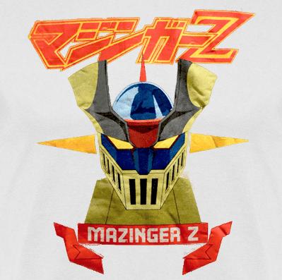 mazinger-z-camiseta blanca-clothes and games-licencia-terrassa