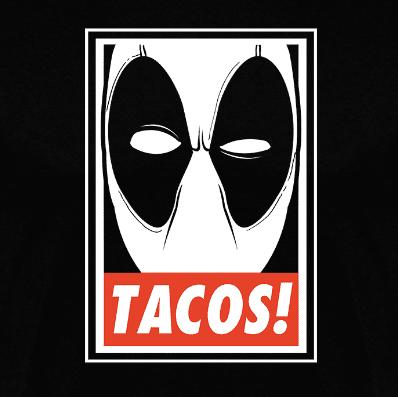 Camiseta manga larga TACOS! (Por Fernando Sala Soler) disponible en clothes and games terrassa
