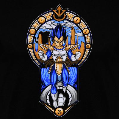 Camiseta manga larga Prince Of All Saiyans (Por CoD Designs) disponible en clothes and games terrassa