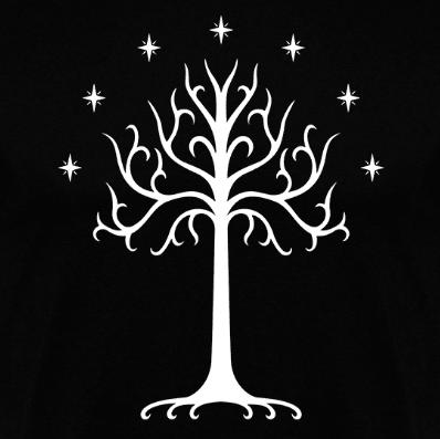 Camiseta Gondor arbol blanco disponible en clothes and games