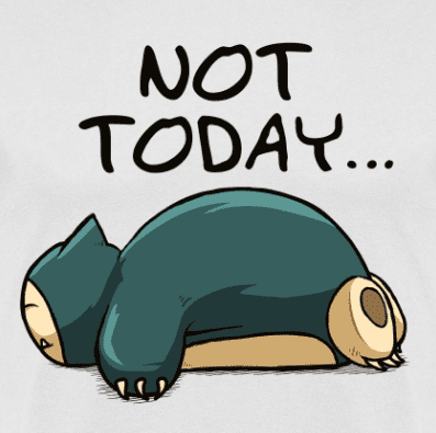 Camiseta Not Today (Por Le Duc) ya en clothes and games terrassa
