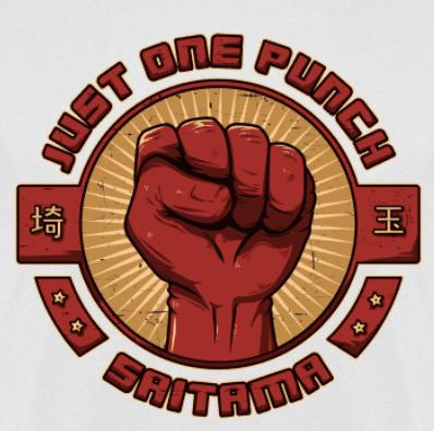 Camiseta Just one punch (Por Le Duc) en clothes and games terrassa