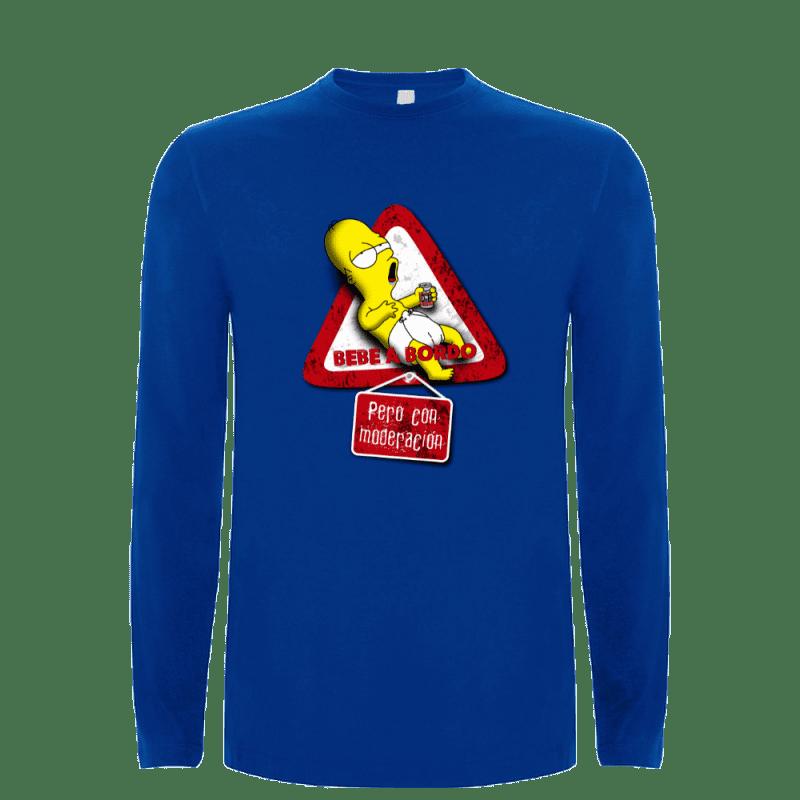 Camiseta Bebe a bordo (Por Lallama) en clothes and games terrassa