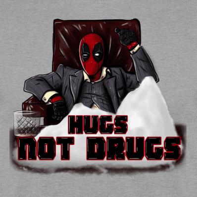 Sudadera con Capucha HUGS-NOT-DRUGS
