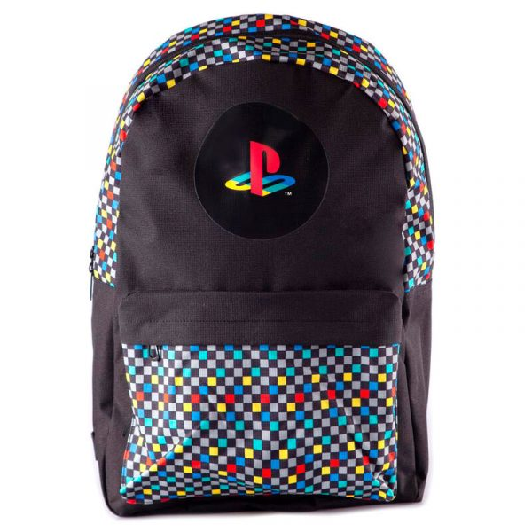 Mochila Retro PlayStation 41cm Tamaño- 41x31x3cm. 100% Polyester